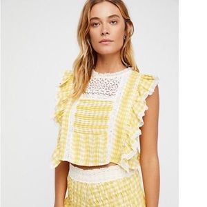 NEW Free People The Tessa Gingham Top